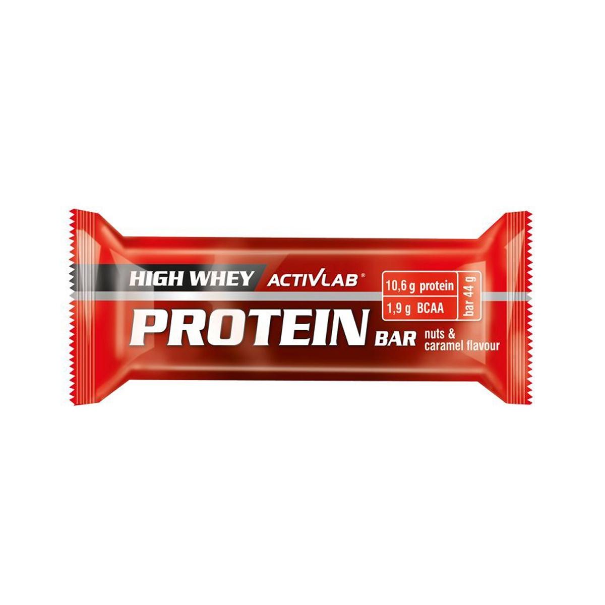 ActivLab Proteinová tyčinka 44 g s příchutí oříšků a karamelu