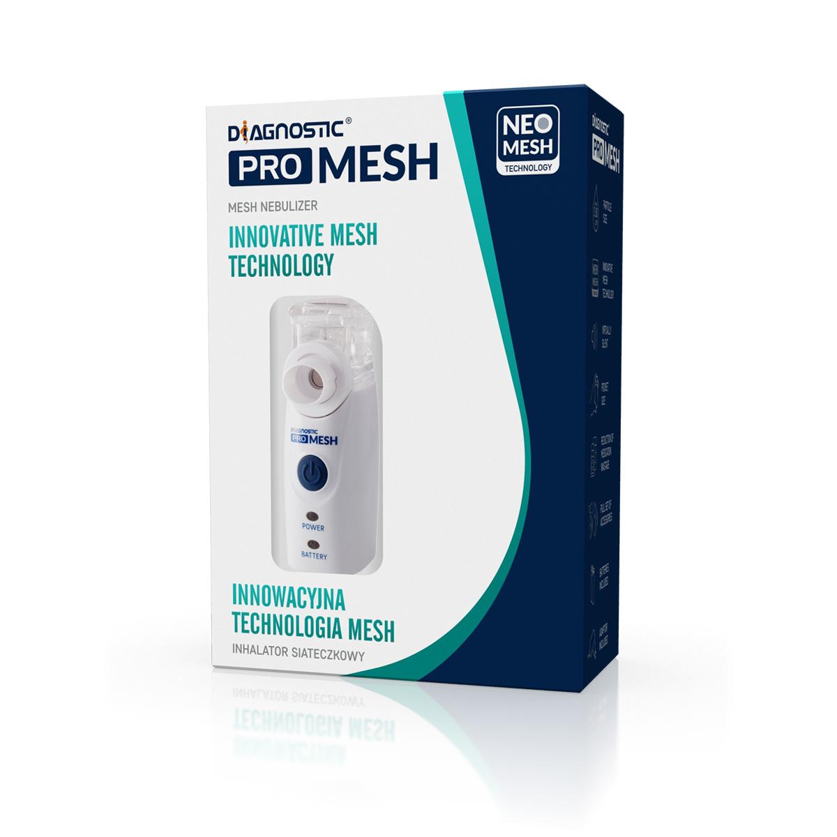 Diagnostic ProMesh Ultrazvukový inhalátor s příslušenstvím - 1 sada