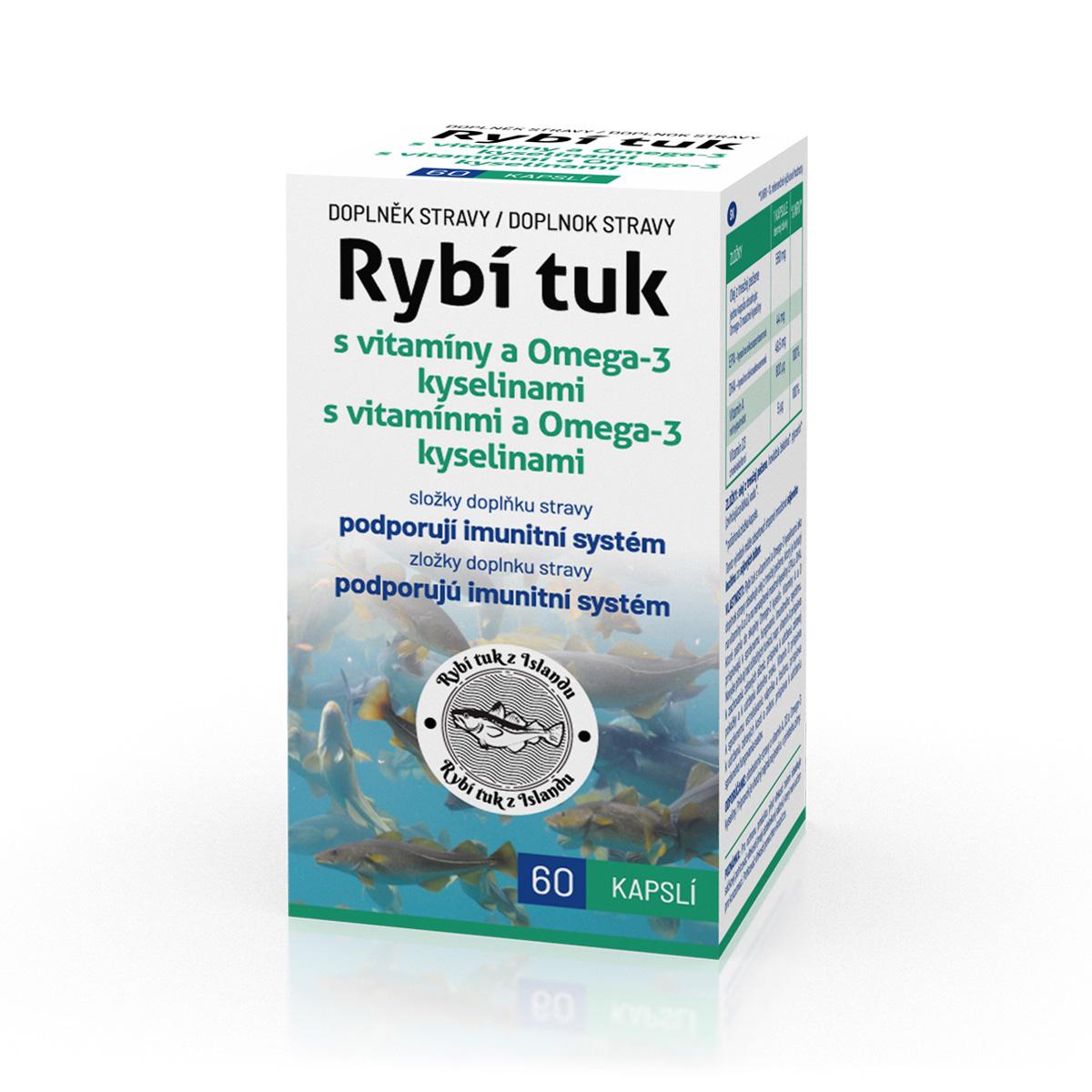 Biotter Rybí tuk s vitamíny a Omega-3 kyselinami 60 cps