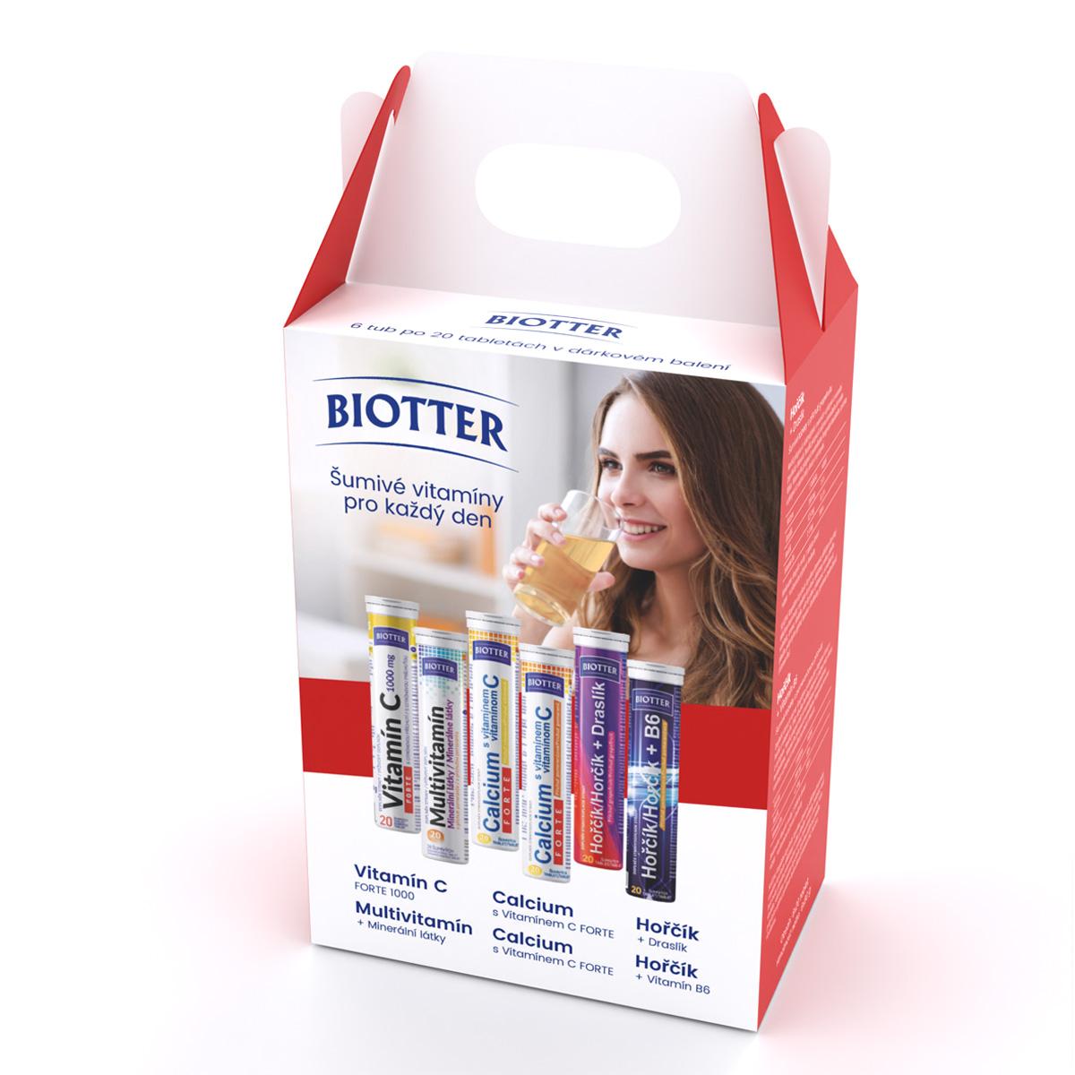 Biotter Šumivé vitamíny pro každý den 6 x 20 ks
