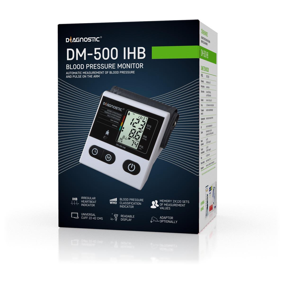 Diagnostic Tlakoměr automatický pažní DM-500 IHB