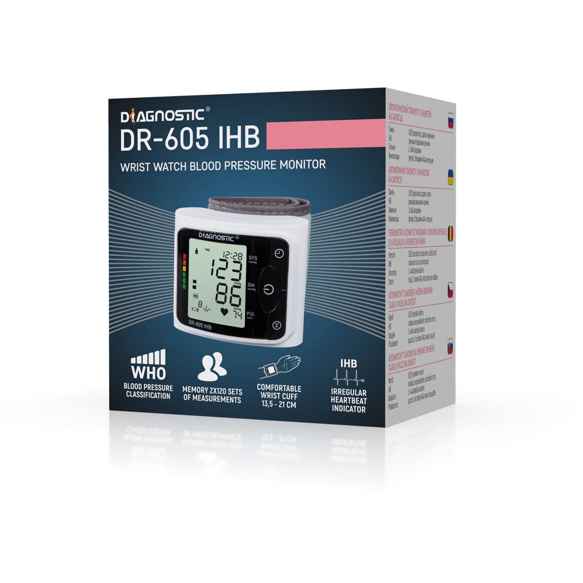 Diagnostic Tlakoměr automatický zápěstní DR-605 IHB