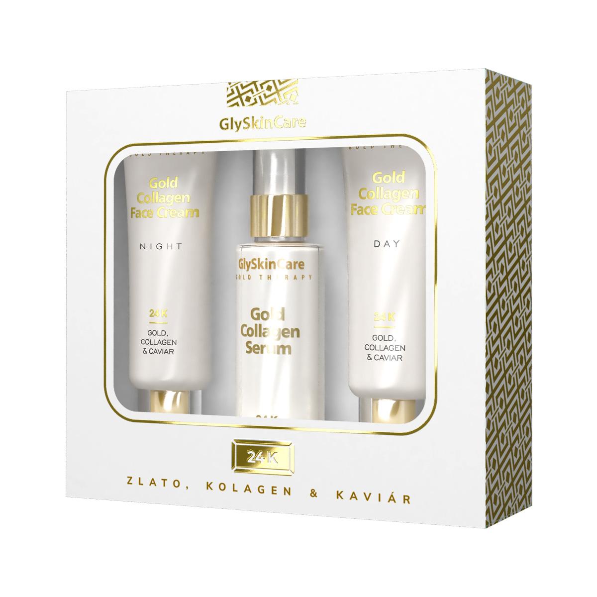 Biotter zlatá sada krém na obličej se zlatem denní + noční + sérum 3x50ml