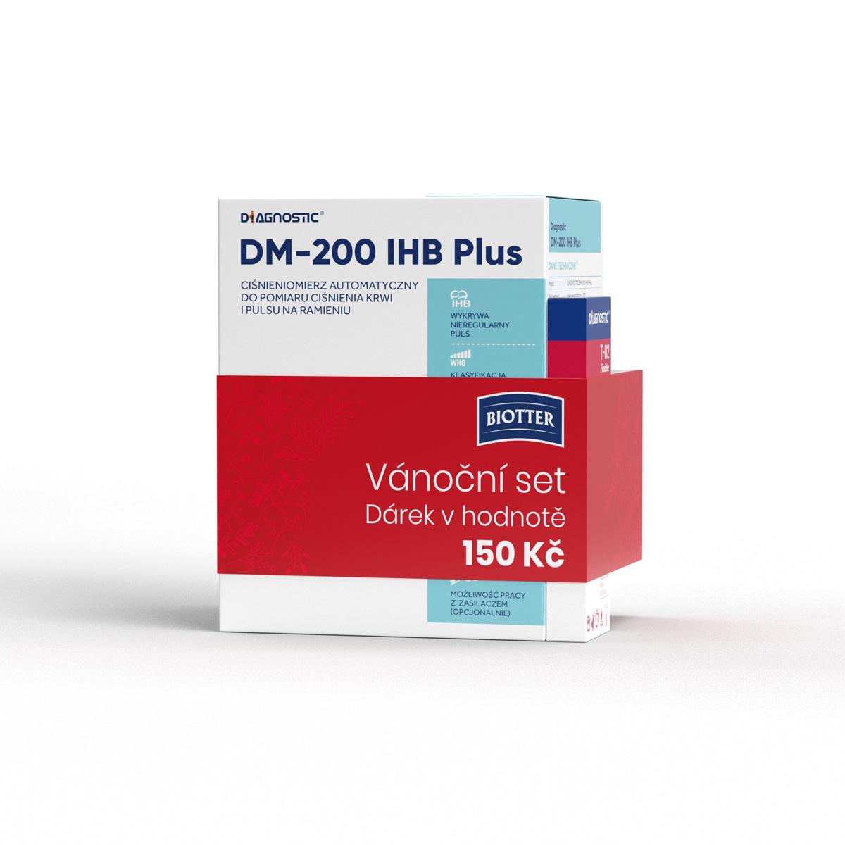Diagnostic Tlakoměr automatický pažní DM-200 IHB Plus + teploměr T-02