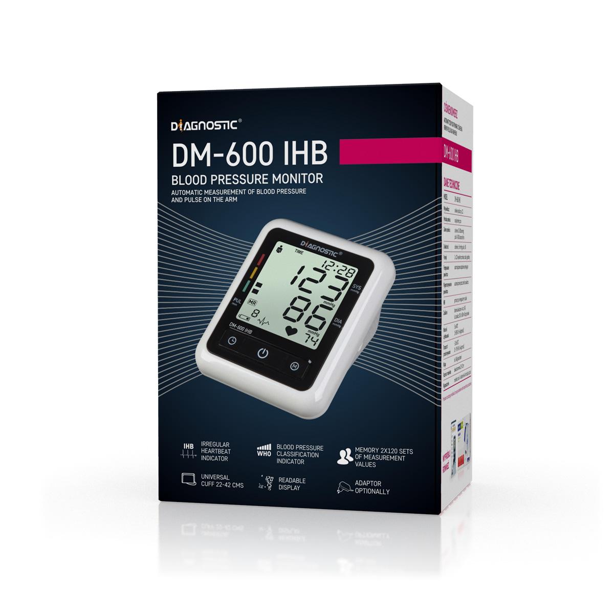 Diagnostic Tlakoměr automatický pažní DM-600 IHB