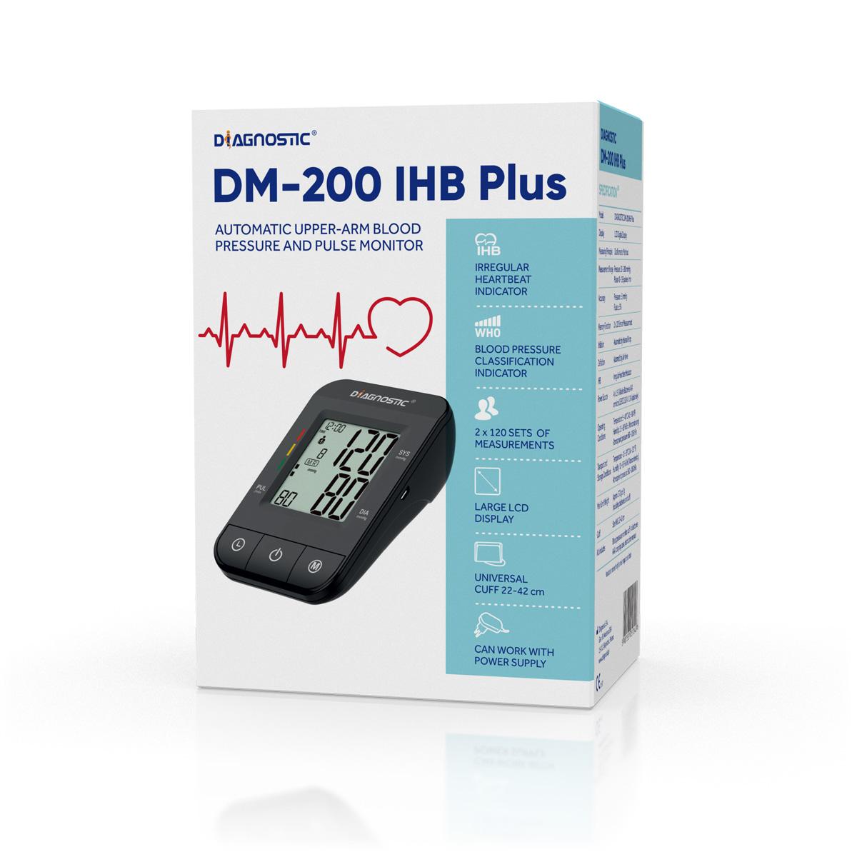 Diagnostic Tlakoměr automatický pažní DM-200 IHB Plus