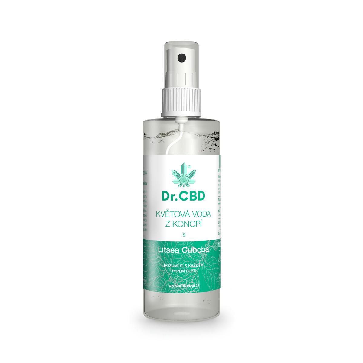 Dr. CBD Květová voda z konopí s Litsea Cubeba 120 ml