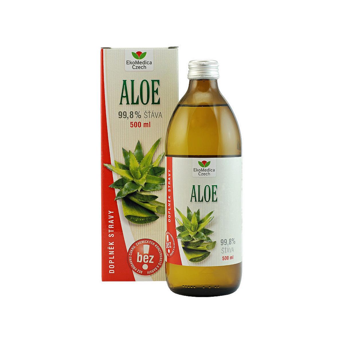 EkoMedica Aloe Vera 99,8% šťáva 500 ml