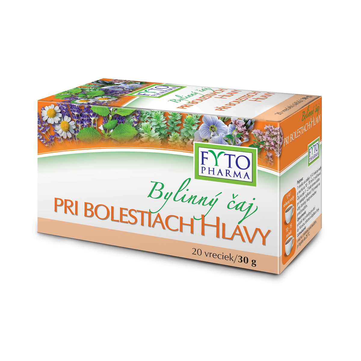 Fytopharma Bylinný čaj při bolestech hlavy 20 x 1,5 g