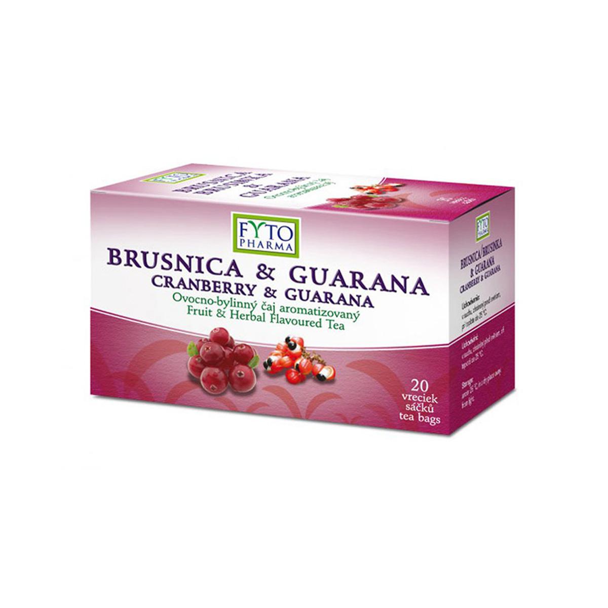 Fytopharma Ovocno-bylinný čaj brusinka & guarana 20 x 2 g