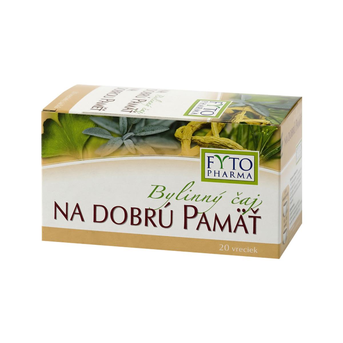 Fytopharma Bylinný čaj na dobrou paměť 20 x 1,25 g