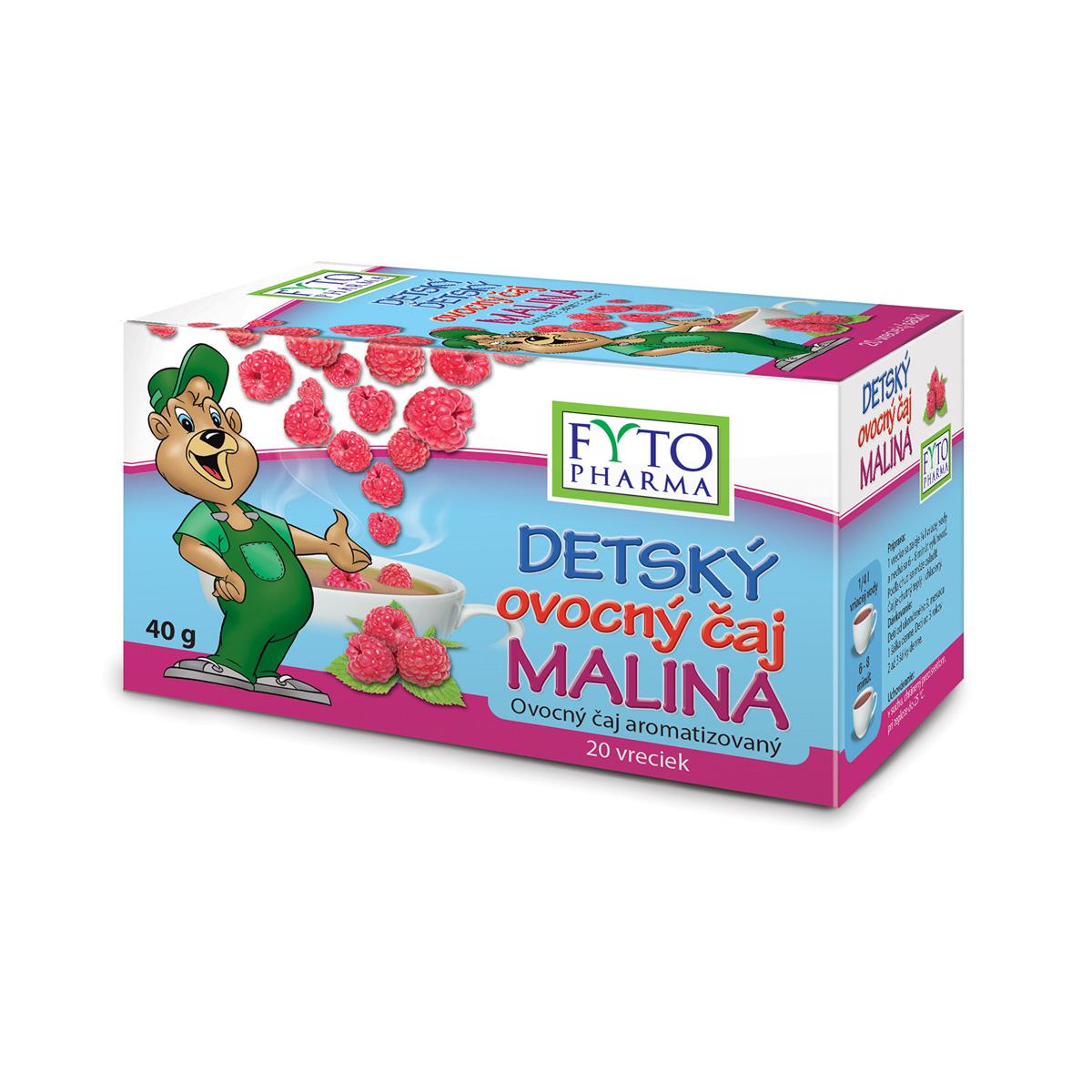 Fytopharma Dětský ovocný čaj malina 20 x 2 g