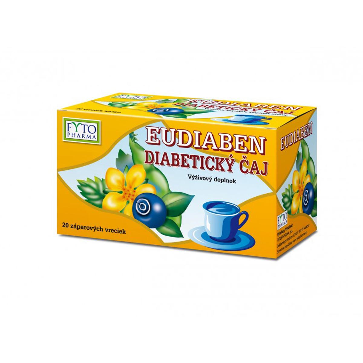 Fytopharma Diabetický čaj EUDIABEN® 20 x 1 g