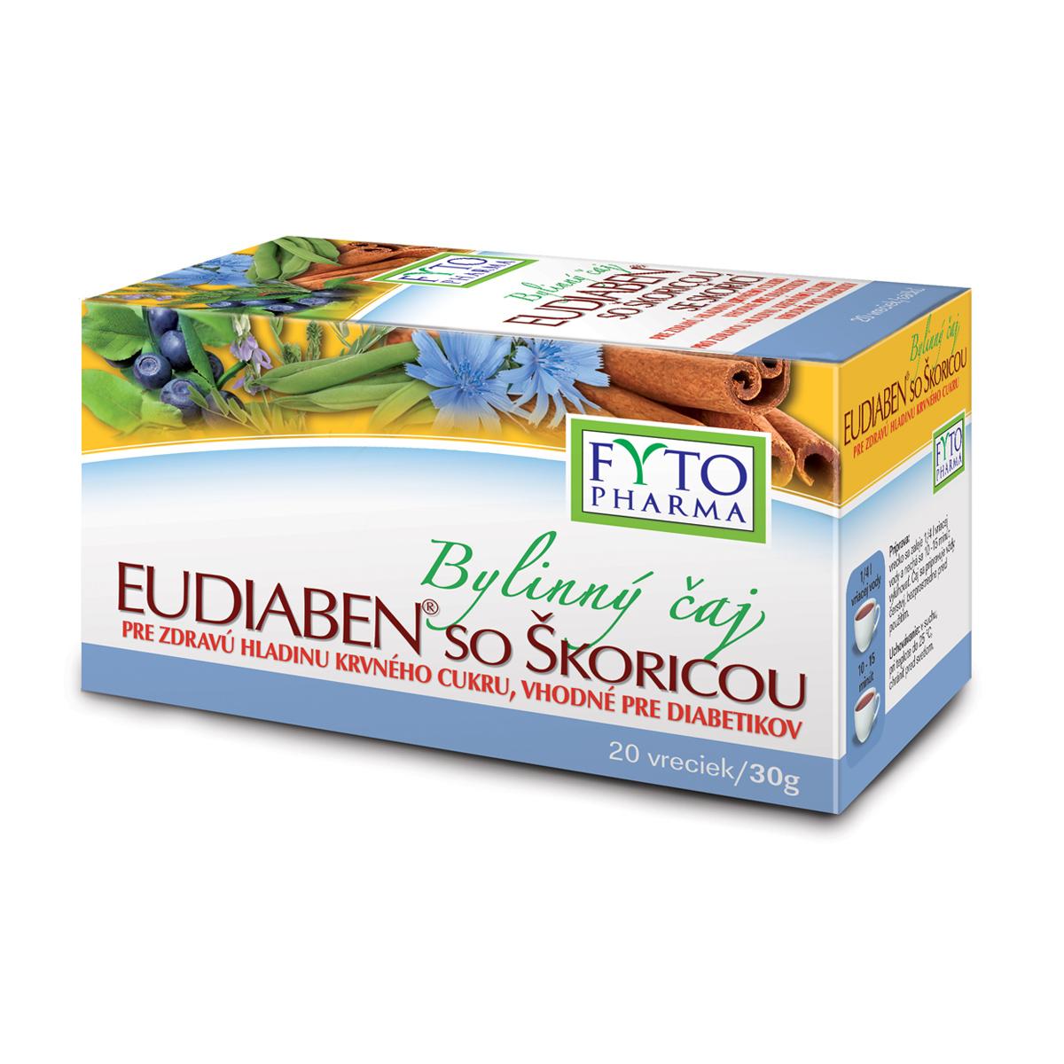 Fytopharma Bylinný čaj se skořicí EUDIABEN® 20 x 1,5 g
