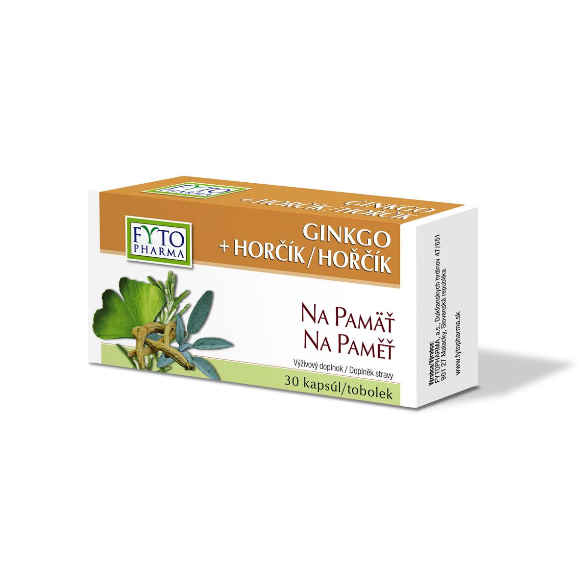 Fytopharma Ginkgo + Hořčík tobolky na paměť 30 cps