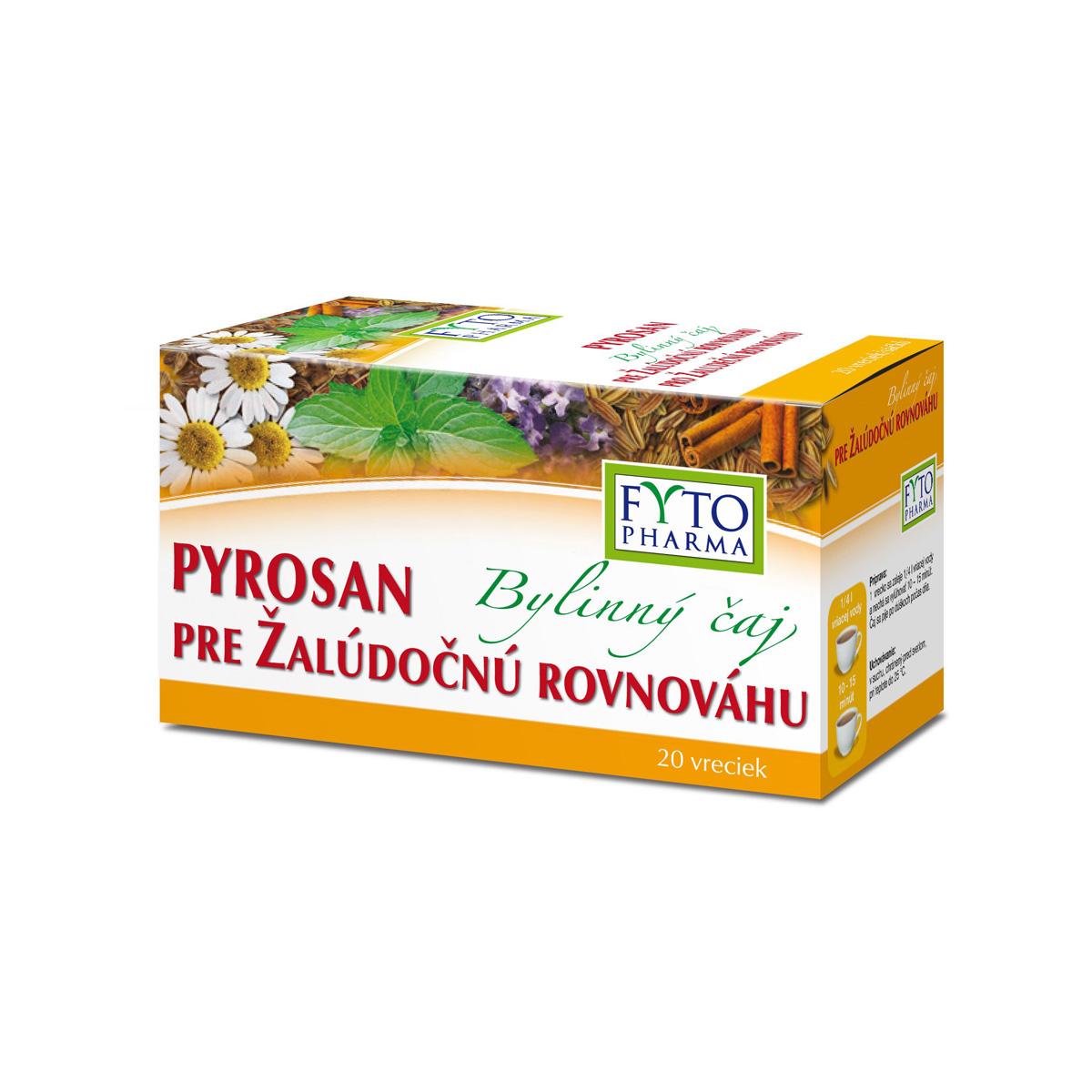 Fytopharma Bylinný čaj pro žaludeční rovnováhu PYROSAN 20 x 1,5 g