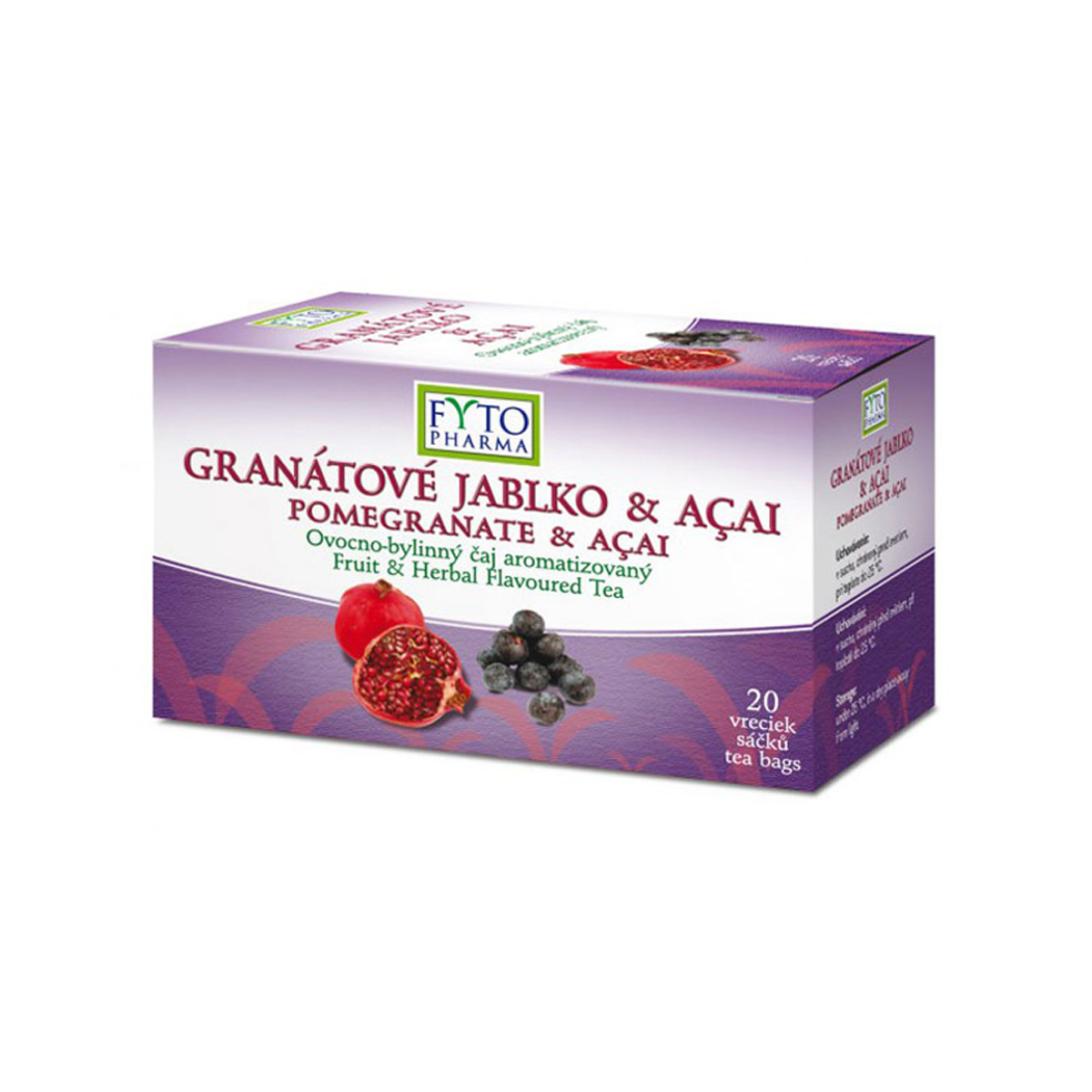 Fytopharma Ovocno-bylinný čaj granátové jablko & Acai 20 x 2 g
