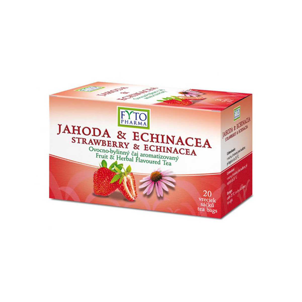 Fytopharma Ovocno-bylinný čaj jahoda & echinacea 20 x 2 g