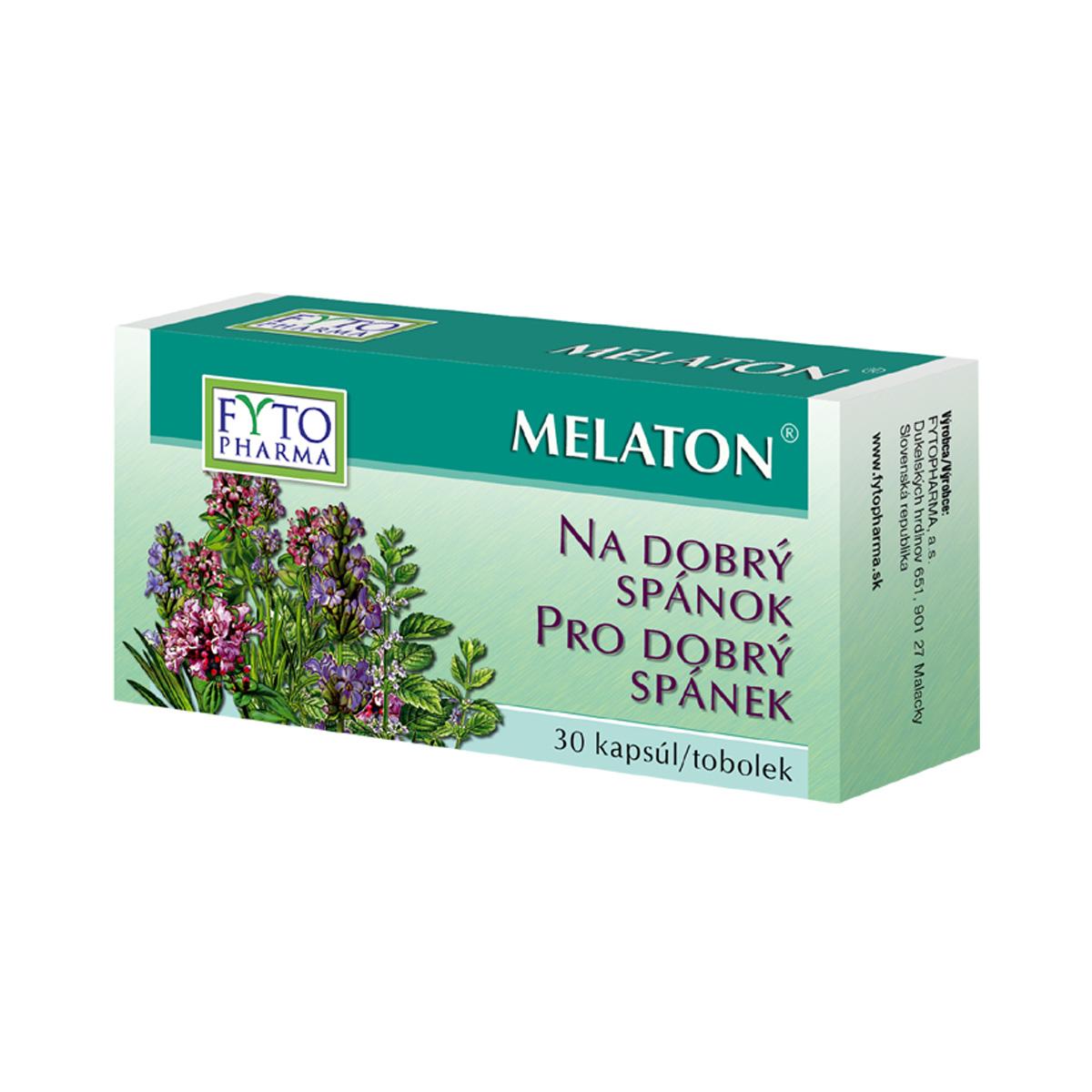 Fytopharma MELATON®  tobolky na dobrý spánek 30 cps
