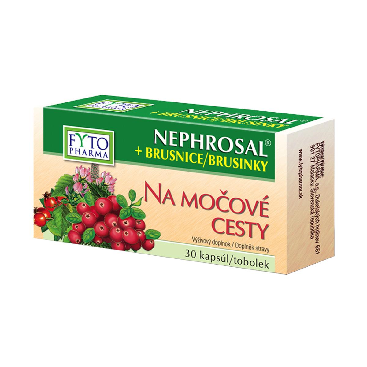 Fytopharma NEPHROSAL®+ brusinky tobolky na močové cesty 30 cps