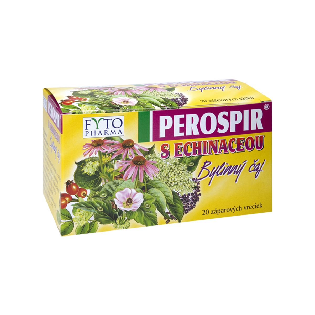 Fytopharma PEROSPIR® bylinný čaj s echinaceou 20 x 1,5 g