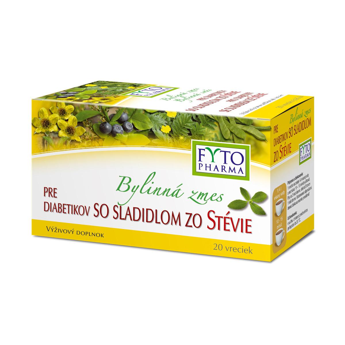 Fytopharma Bylinná směs pro diabetiky se sladidlem ze stévie 20 x 1,5 g