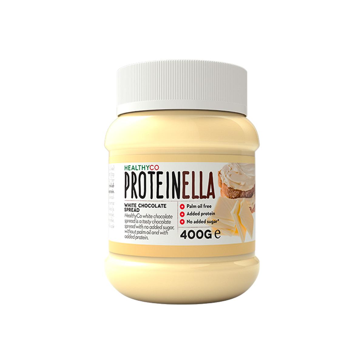 HealthyCo Proteinella 400 g bílá čokoláda