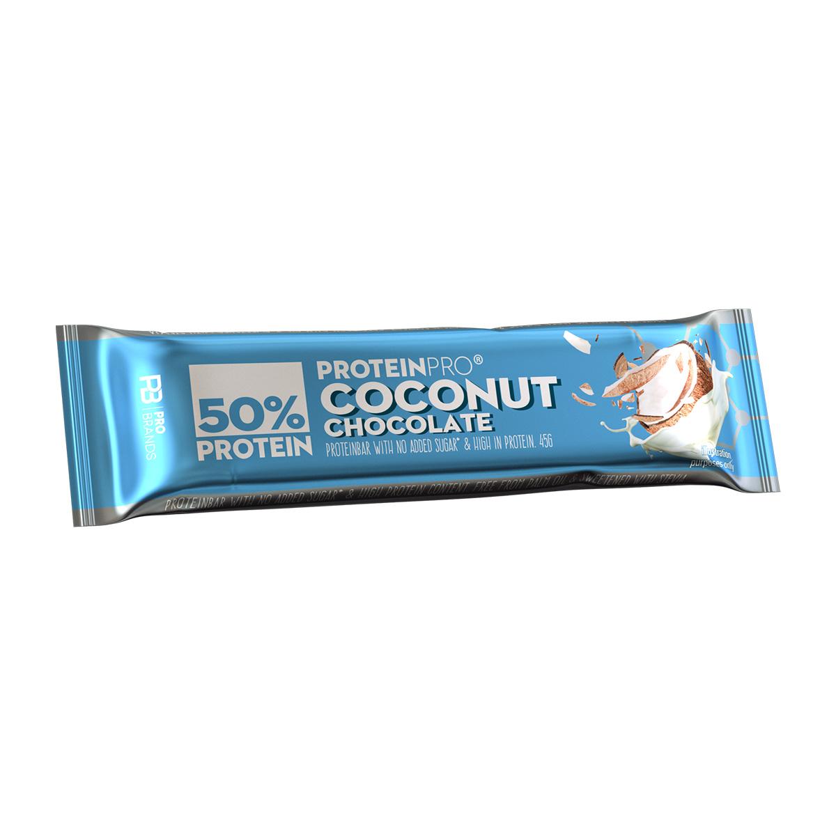 FCB ProteinPRO 50% Proteinová tyčinka kokos 45 g