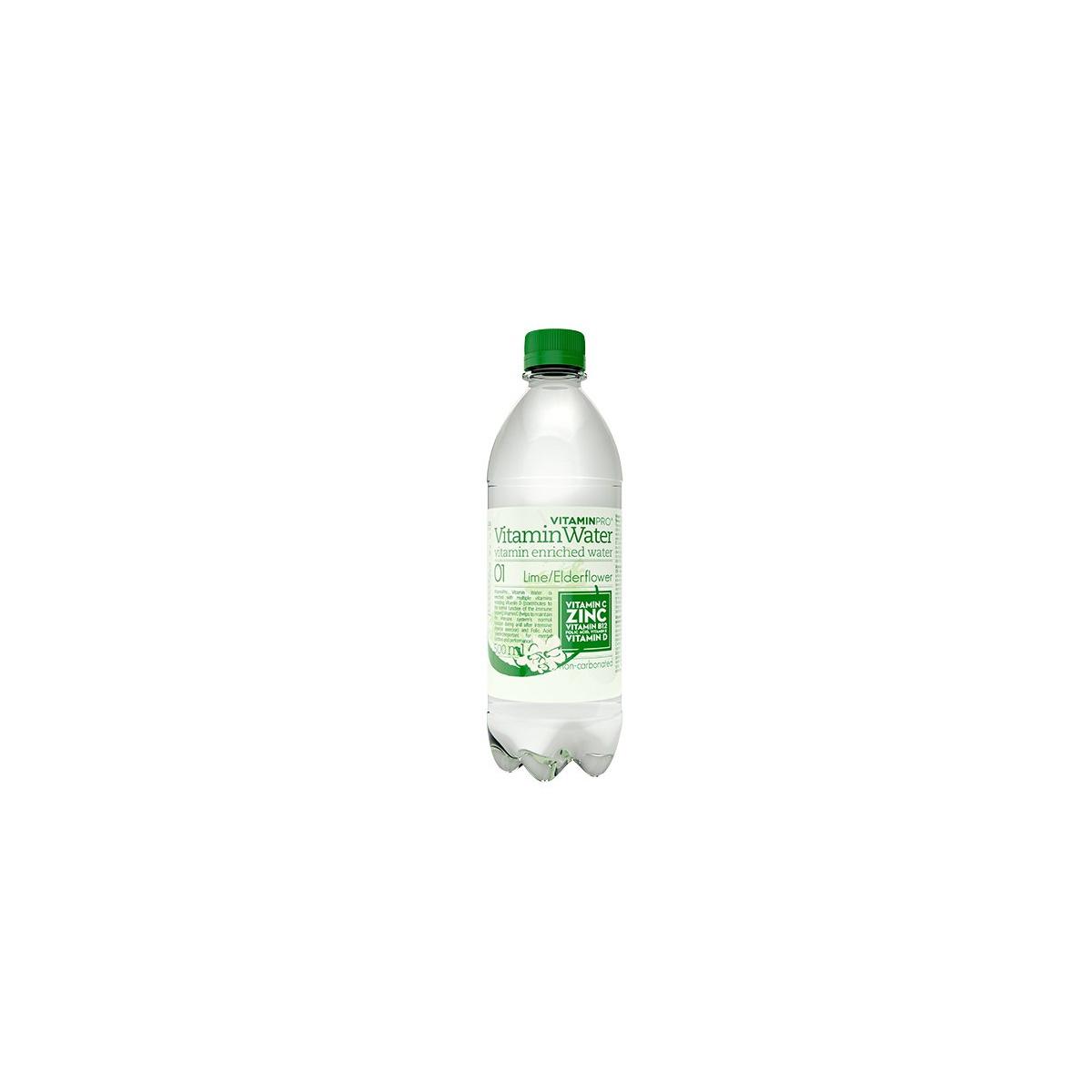 VitaminPro Vitamínová voda limetka + bezový květ 500 ml