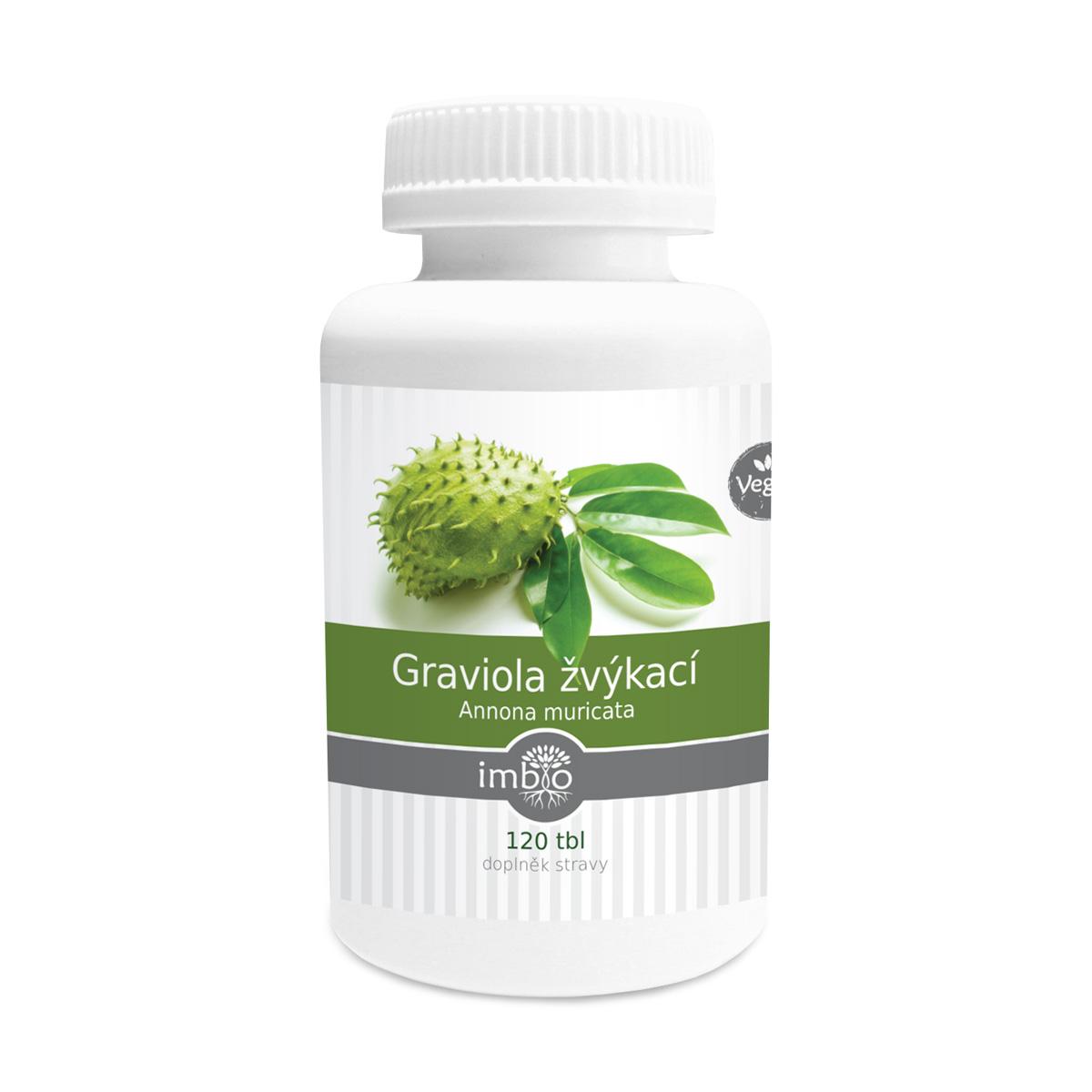 imbio Graviola žvýkací 120 tbl