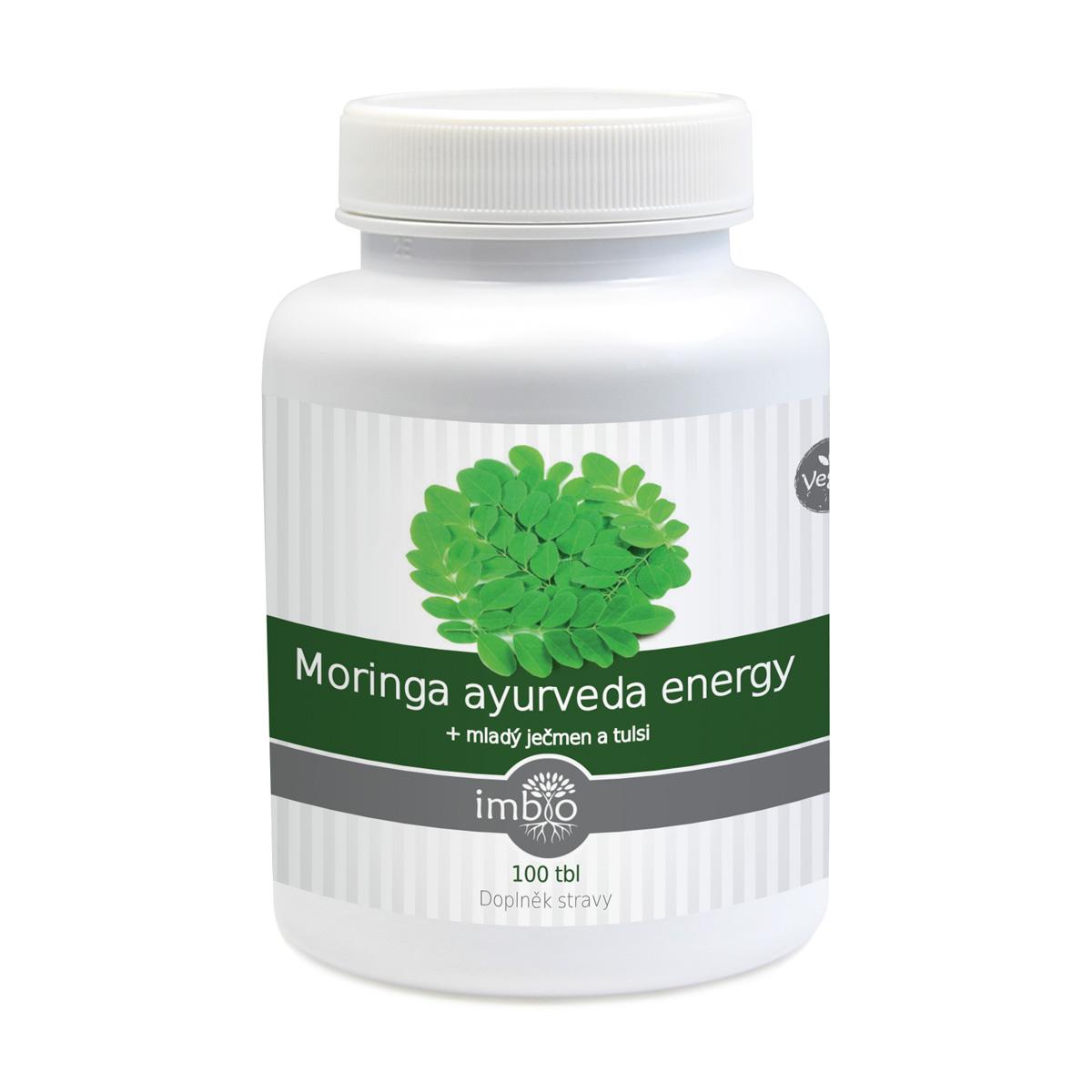 imbio Moringa ayurveda energy 100 tbl