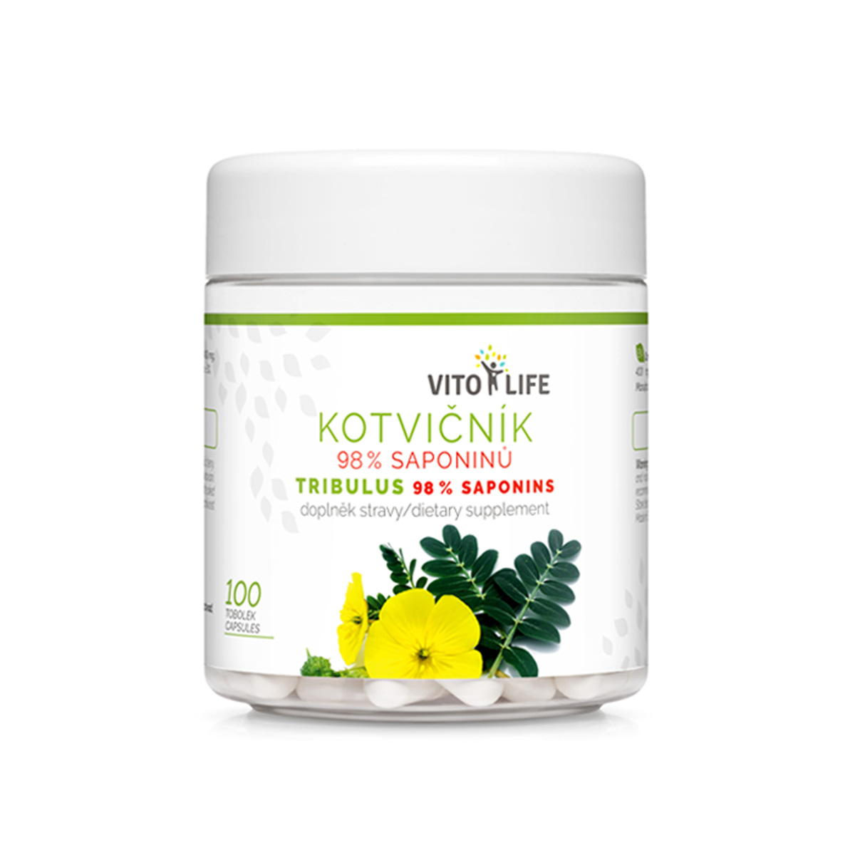 Vito Life Kotvičník (Tribulus) 98% saponinů 100 cps