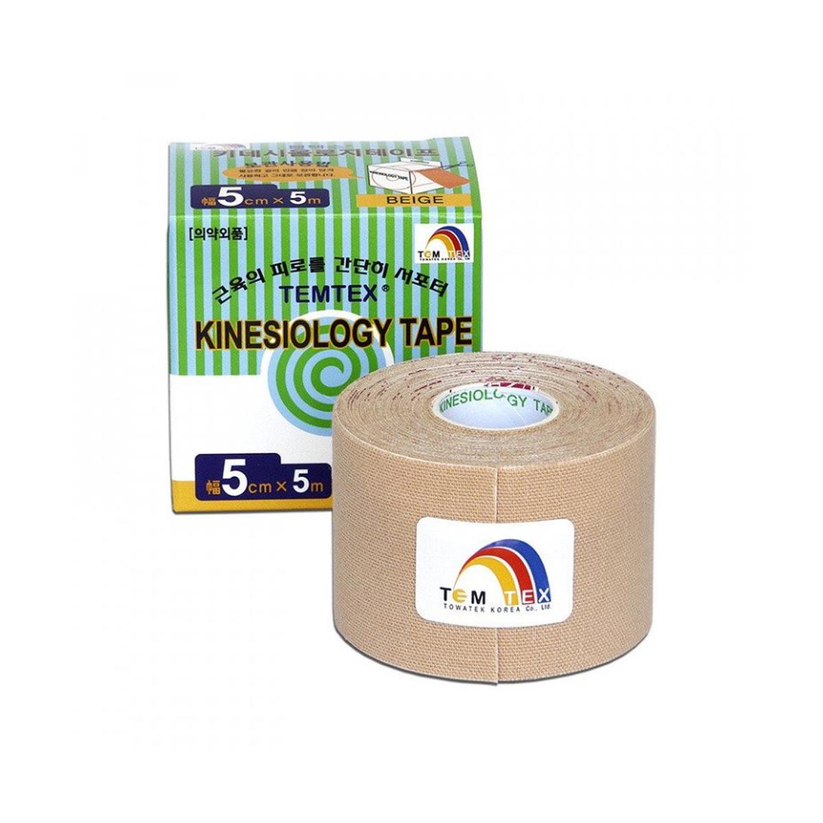 Temtex kinesio tape Classic béžová 5cm x 5m