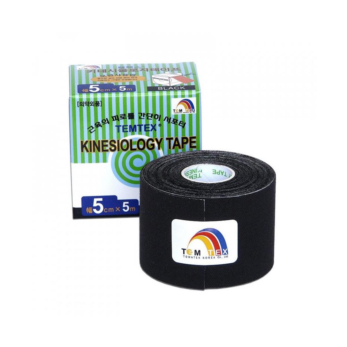 Temtex kinesio tape Classic černá 5cm x 5m
