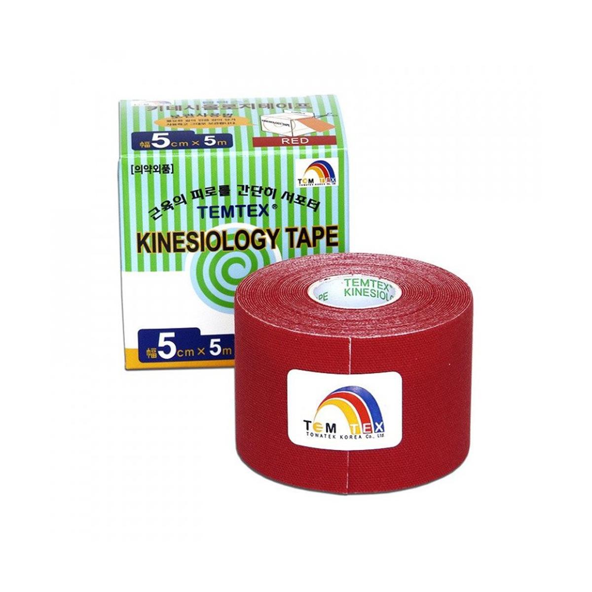 Temtex kinesio tape Classic červená 5cm x 5m