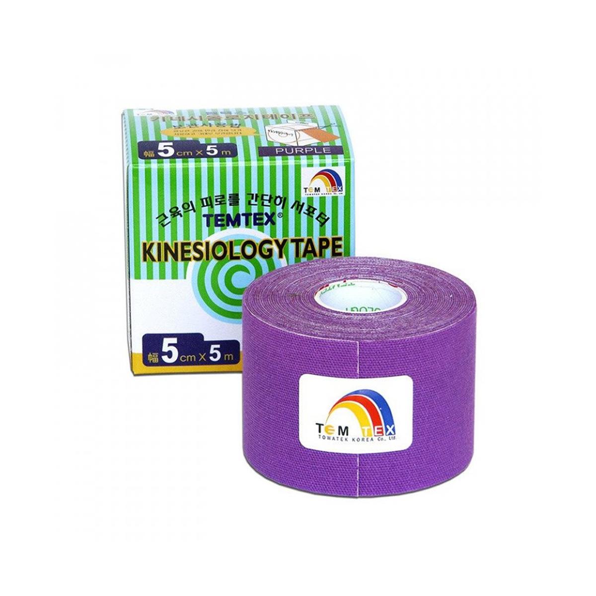 Temtex kinesio tape Classic fialová 5cm x 5m