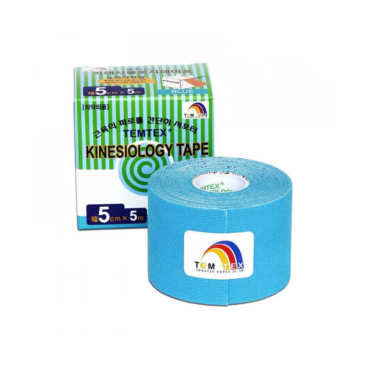 Temtex kinesio tape Classic modrá 5cm x 5m