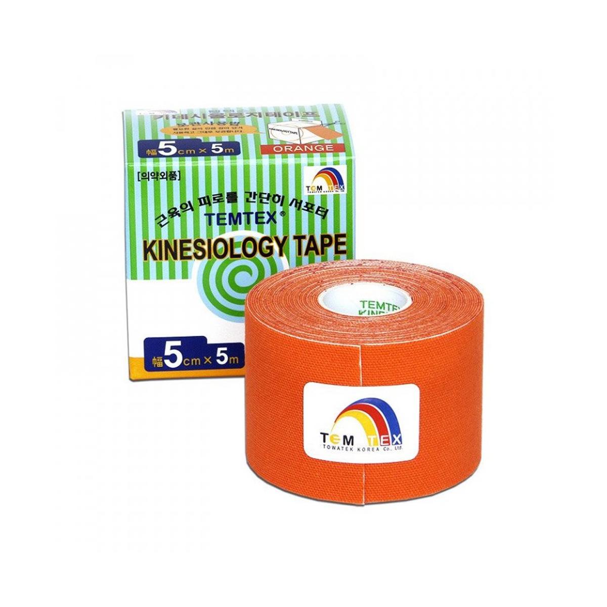 Temtex kinesio tape Classic oranžová 5cm x 5m