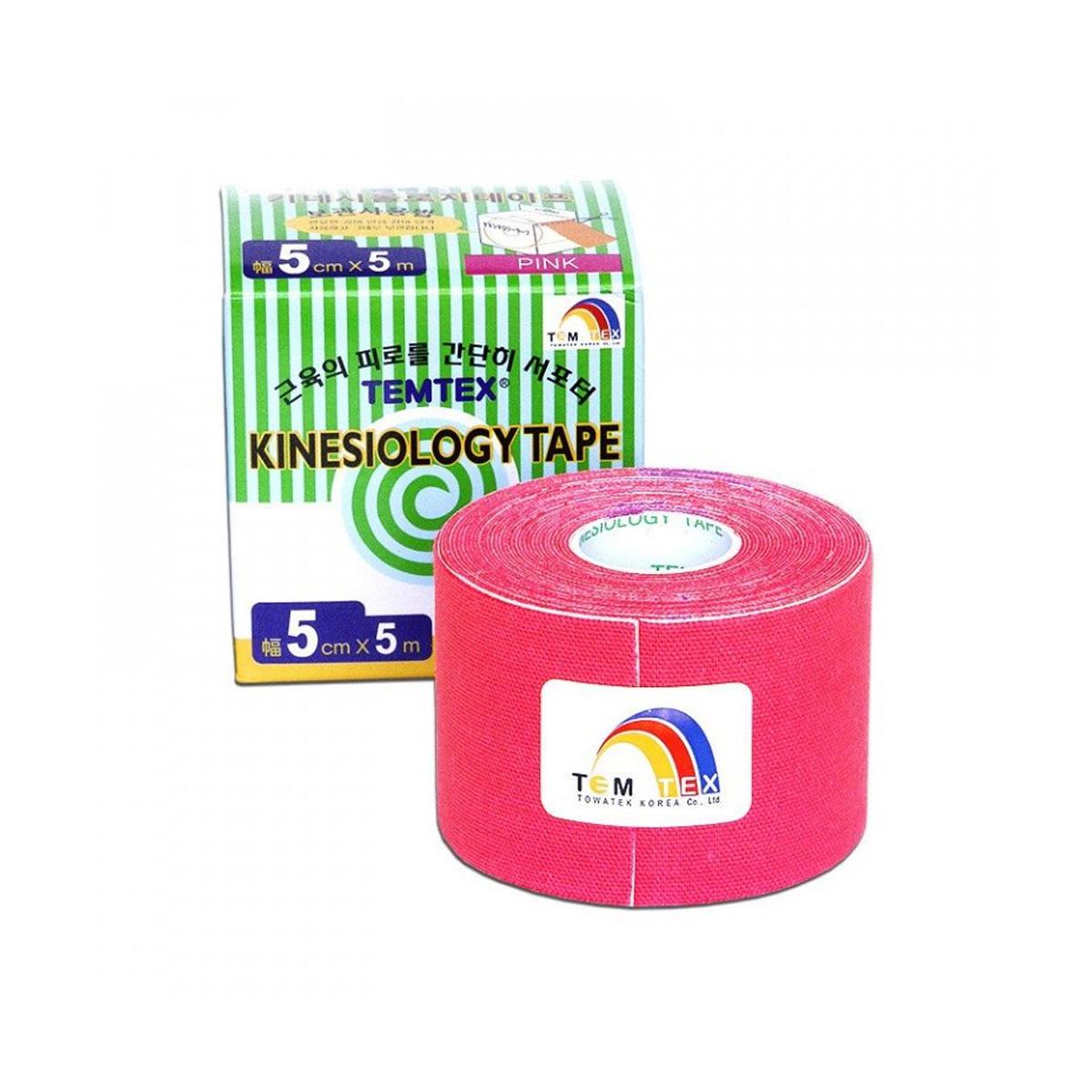 Temtex kinesio tape Classic růžová 5cm x 5m