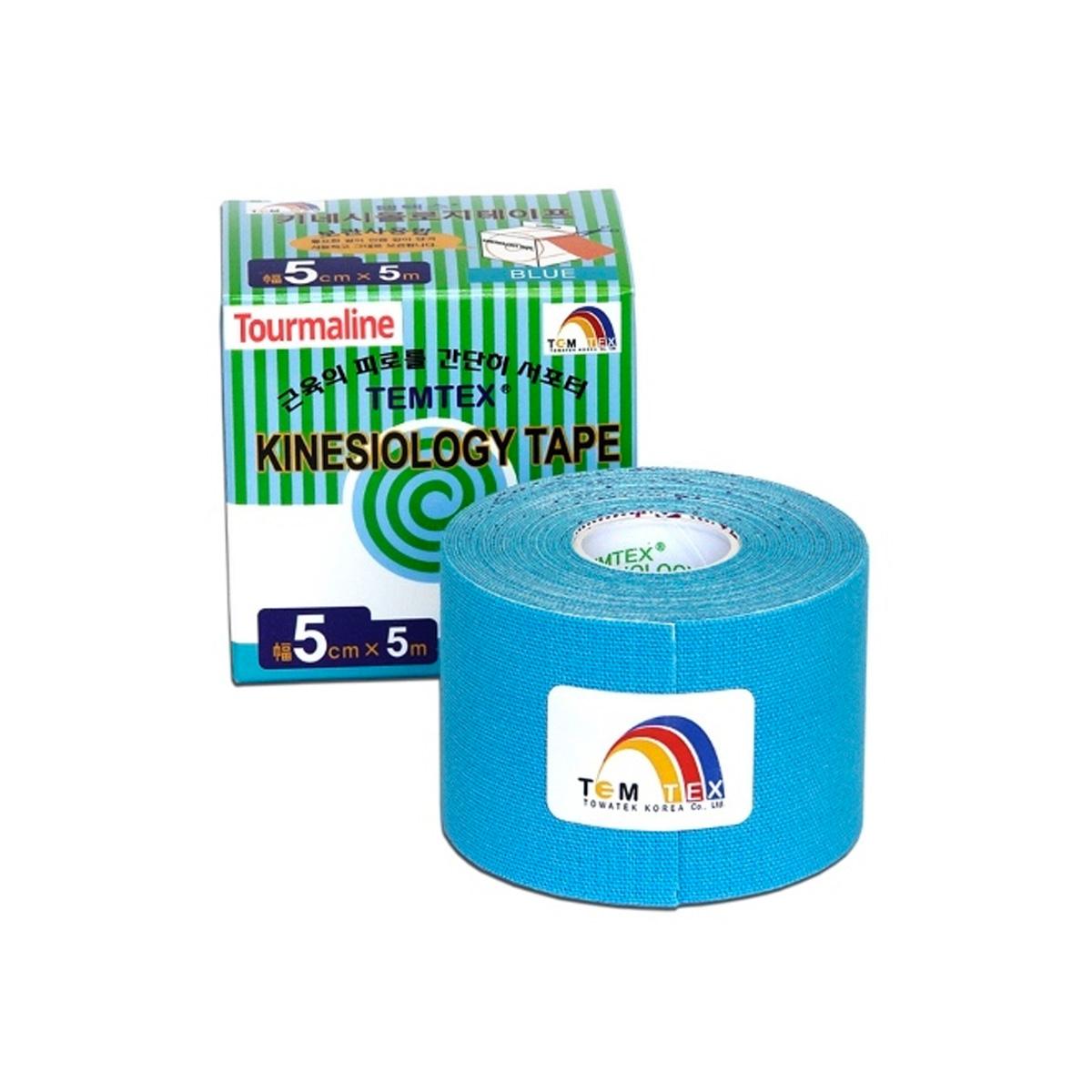 Temtex kinesio tape Tourmaline modrá 5cm x 5m