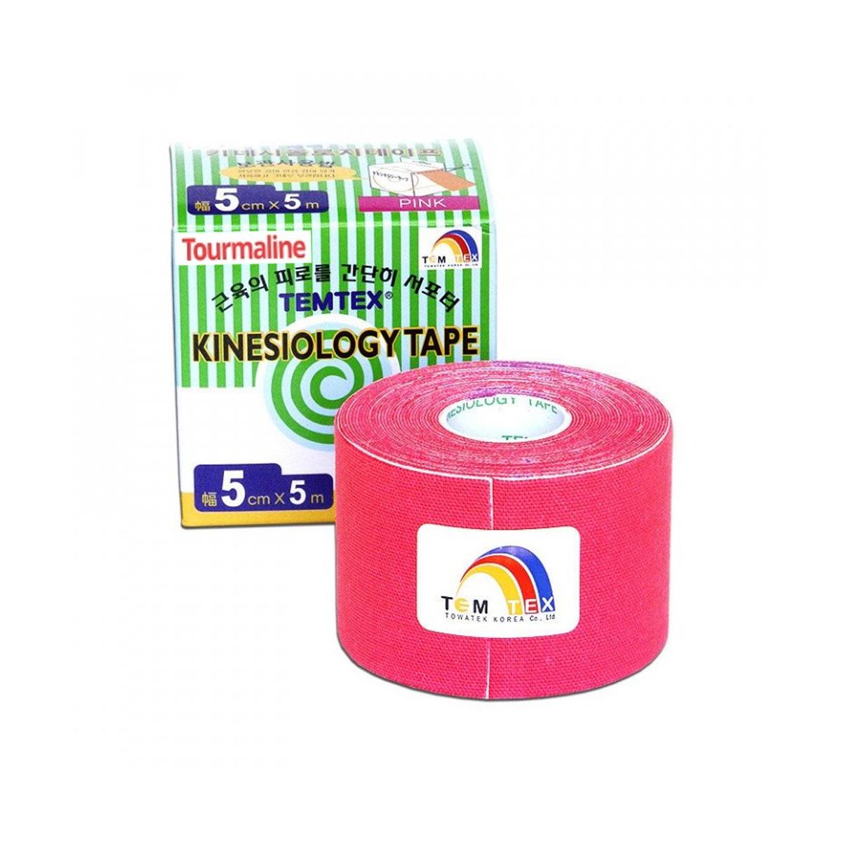 Temtex kinesio tape Tourmaline růžová 5cm x 5m