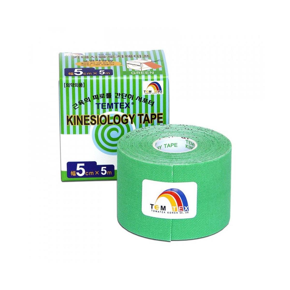 Temtex kinesio tape Classic zelená 5cm x 5m