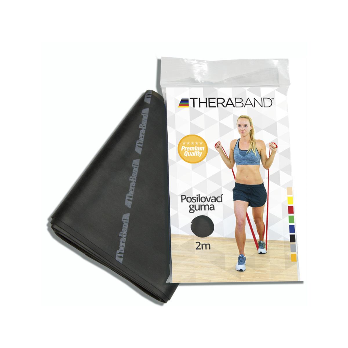 Thera-Band Posilovací guma 2 m černá - speciálně silná
