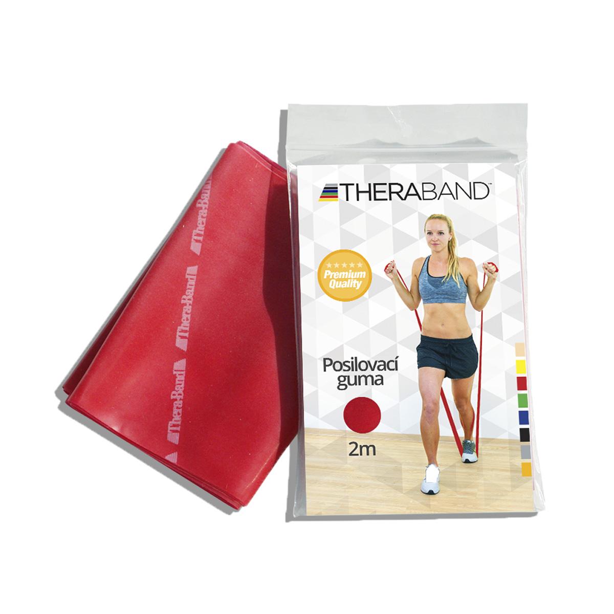 Thera-Band Posilovací guma středně silná 2 m červená