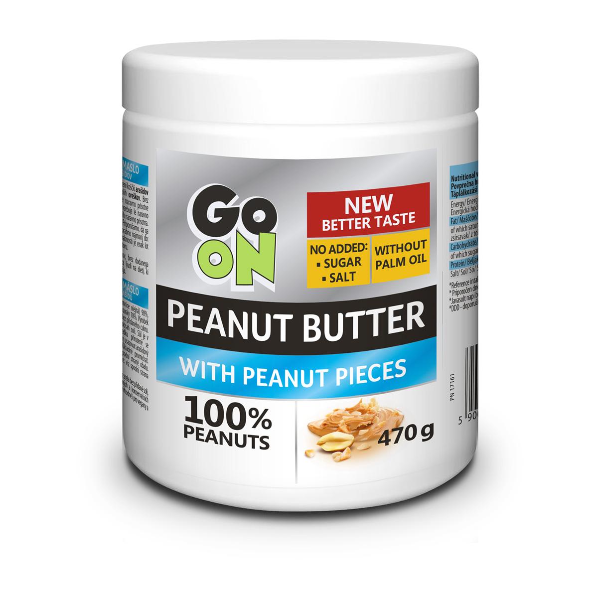 Vieste GO ON Arašídové máslo s kousky arašídů 470 g