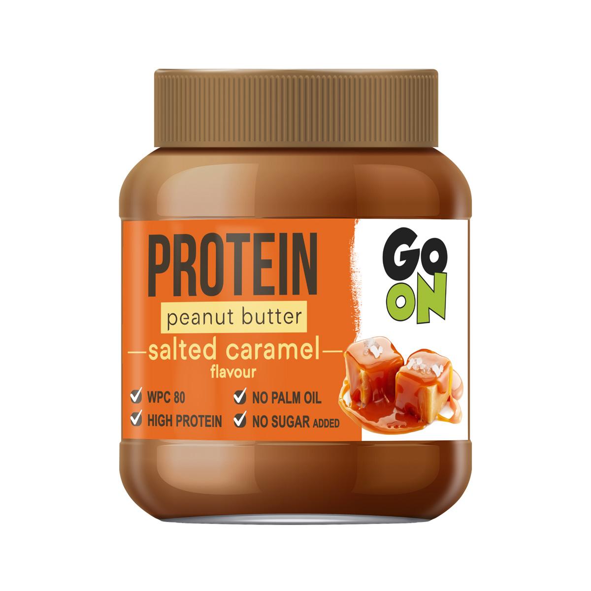Vieste GO ON Proteinové arašídové máslo slaný karamel 350 g