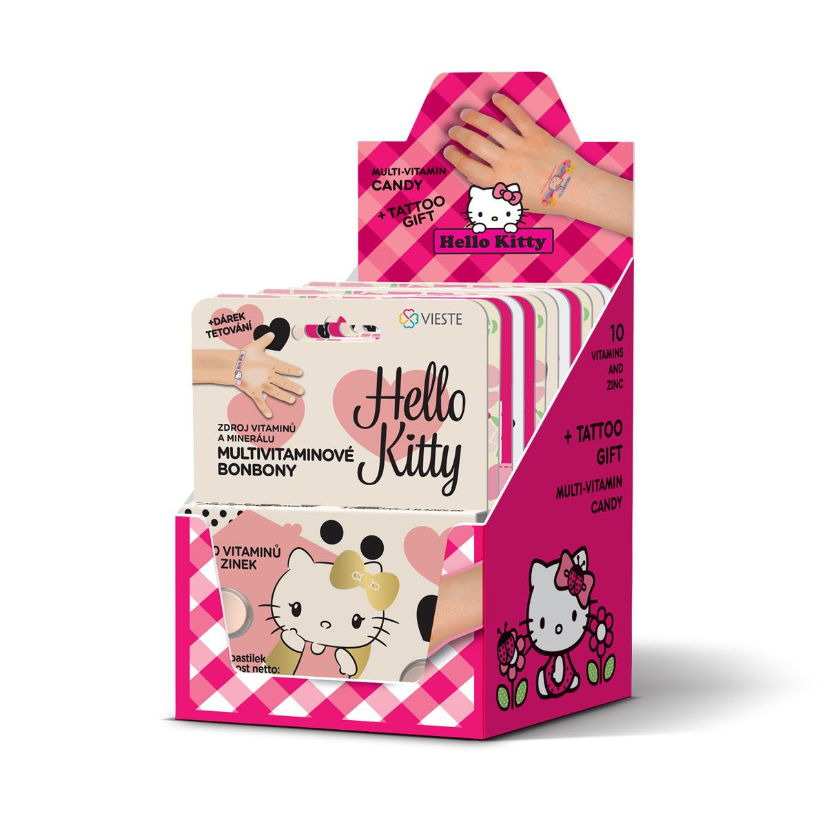 Vieste Multivitamin Hello Kitty + tetování 12x12 tbl