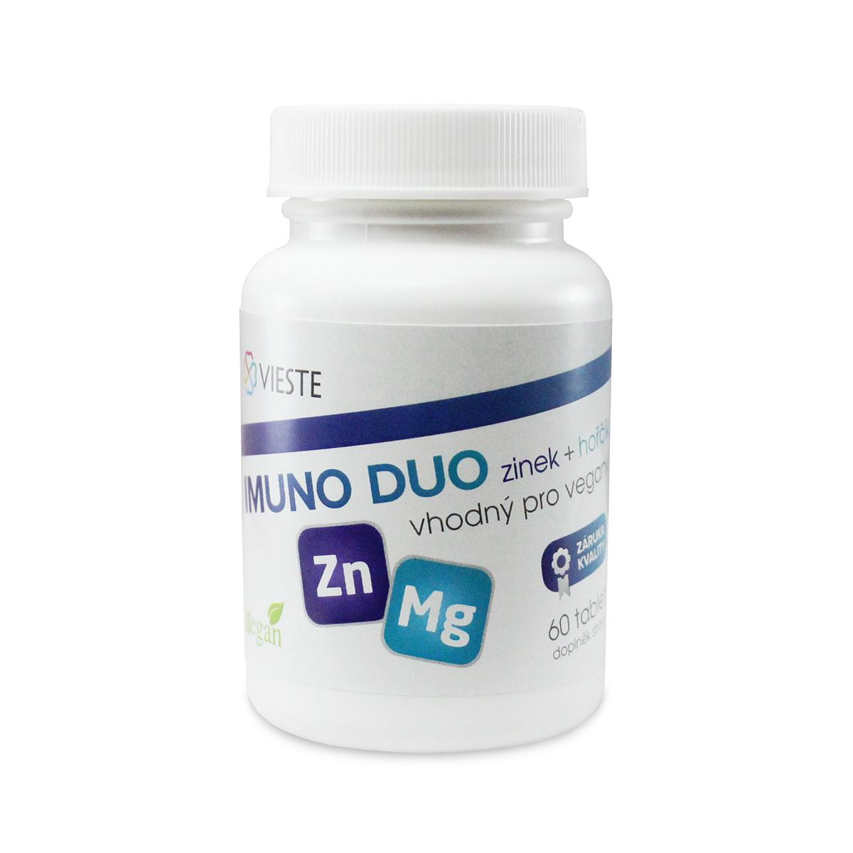 Vieste Imuno Duo zinek + hořčík 60 tbl