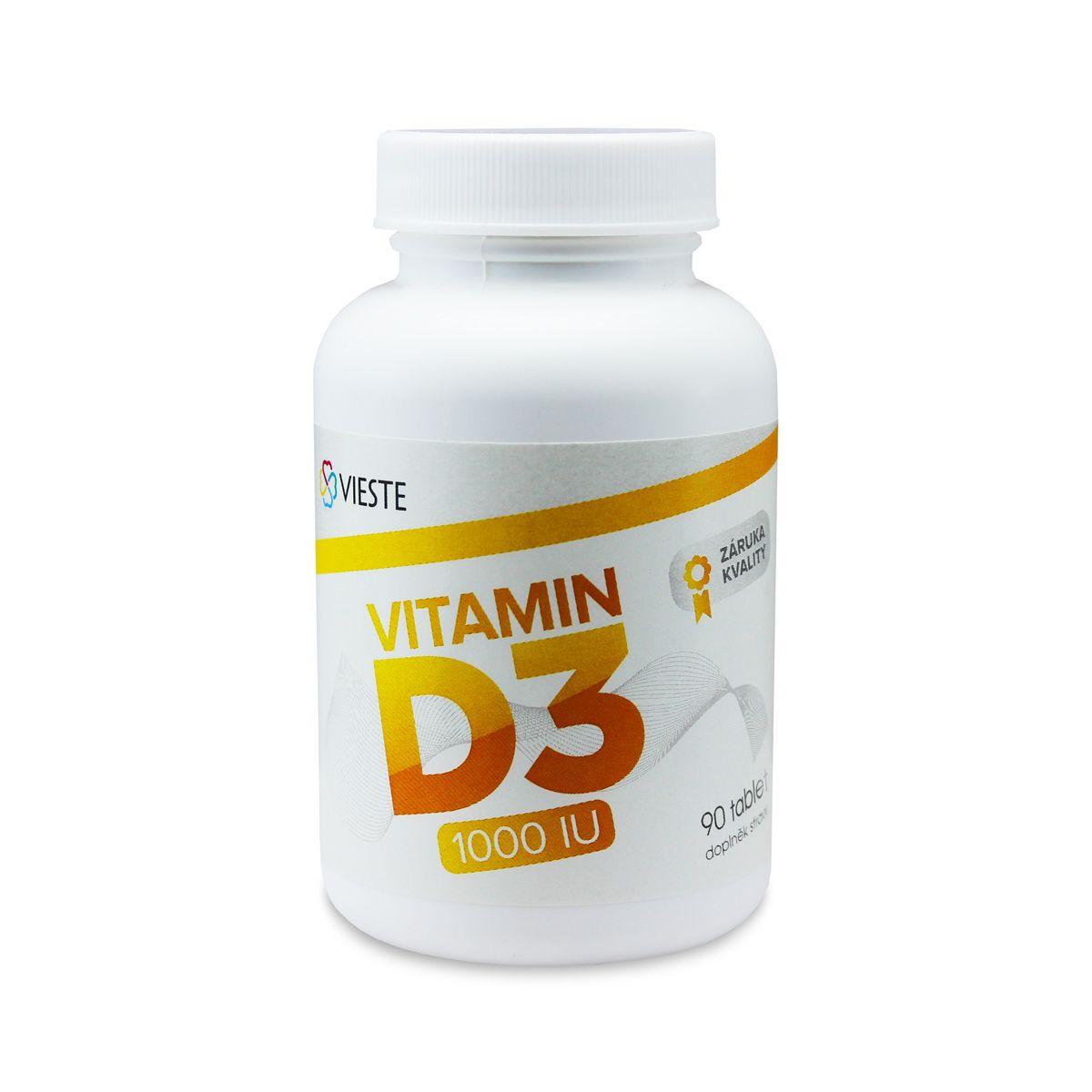 Vieste Vitamin D3 1000 IU 90 tbl