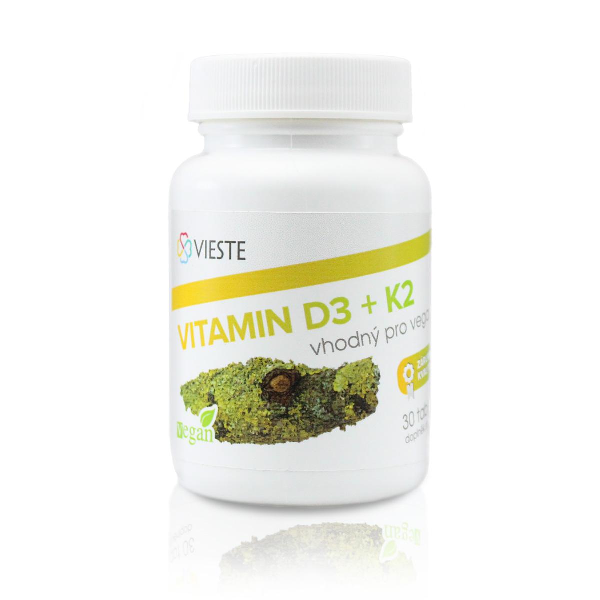 Vieste Vitamin D3 + K2 30 tbl